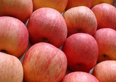 Яблоки «Фуджи» в ящике